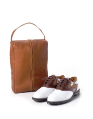 Leather Golf Shoe Bag