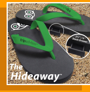 BrandGear Hideaway Flip Flops